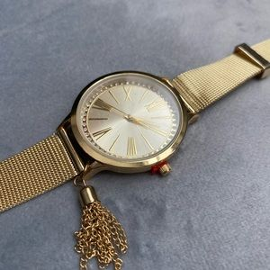 Gold stainless steel fashion watch